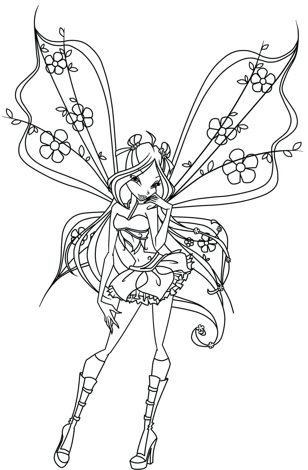 Tranh Tô Màu Công Chúa Phép Thuật Winx - Bloom 12