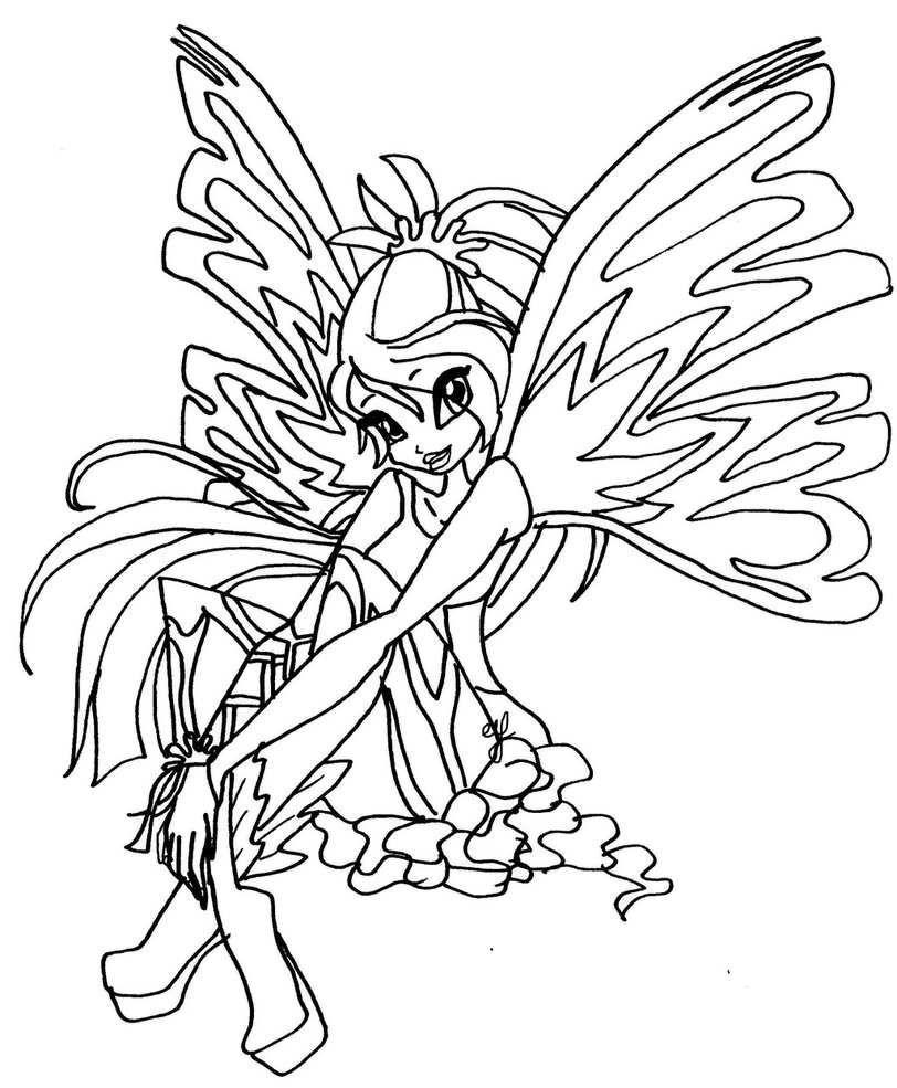Tranh Tô Màu Công Chúa Phép Thuật Winx - Bloom 20