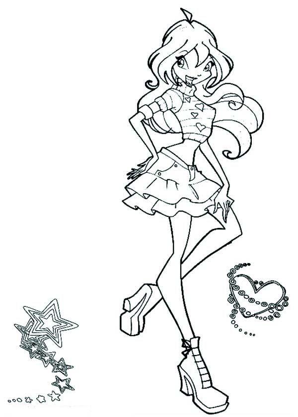 Tranh Tô Màu Công Chúa Phép Thuật Winx - Bloom 23