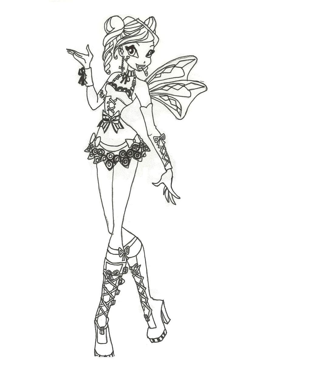 Tranh Tô Màu Công Chúa Phép Thuật Winx - Bloom 28