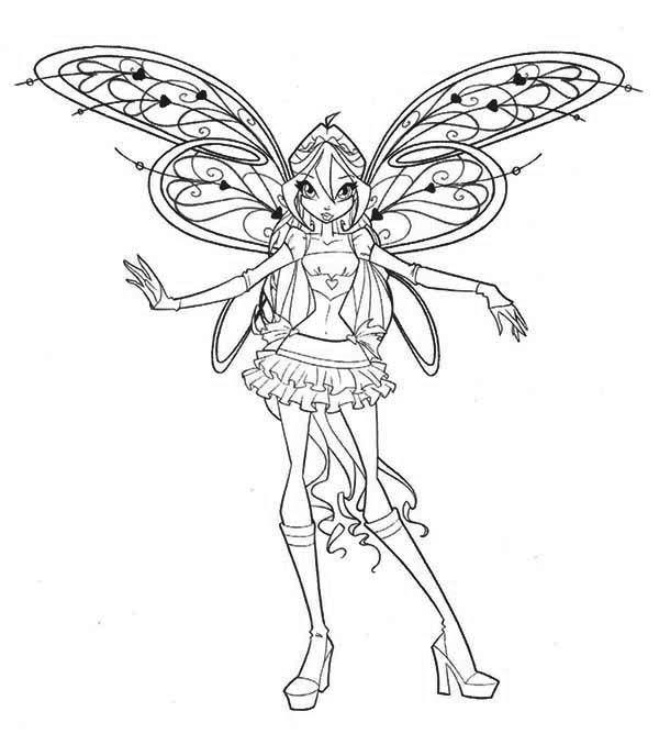 Tranh Tô Màu Công Chúa Phép Thuật Winx - Bloom 32