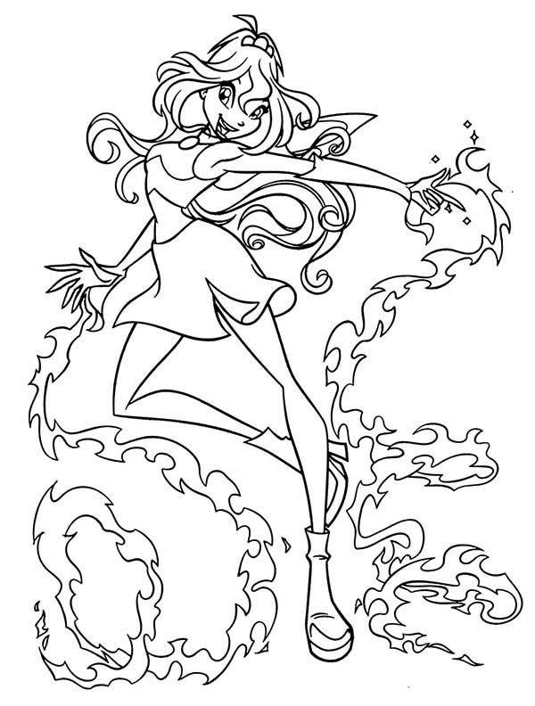 Tranh Tô Màu Công Chúa Phép Thuật Winx - Bloom 35
