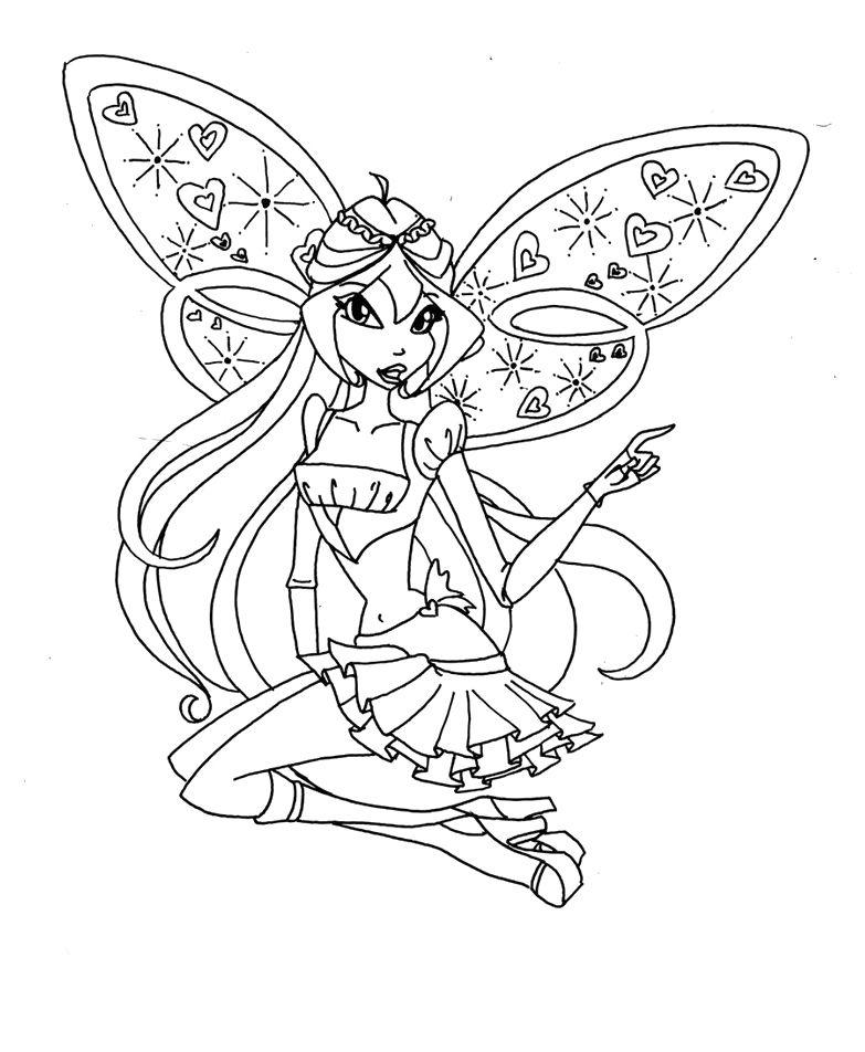 Tranh Tô Màu Công Chúa Phép Thuật Winx - Bloom 36