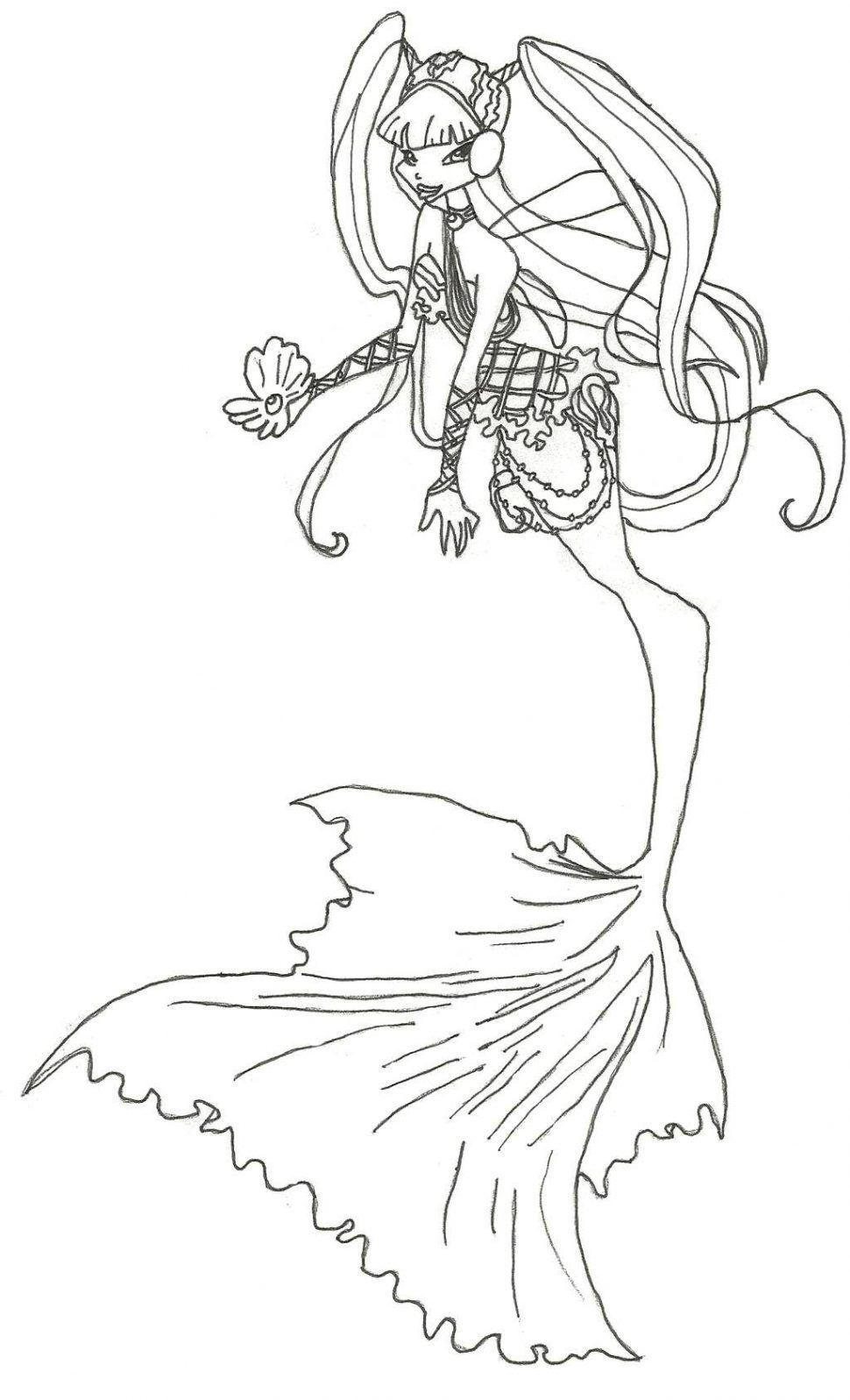 Tranh Tô Màu Công Chúa Phép Thuật Winx - Bloom 40