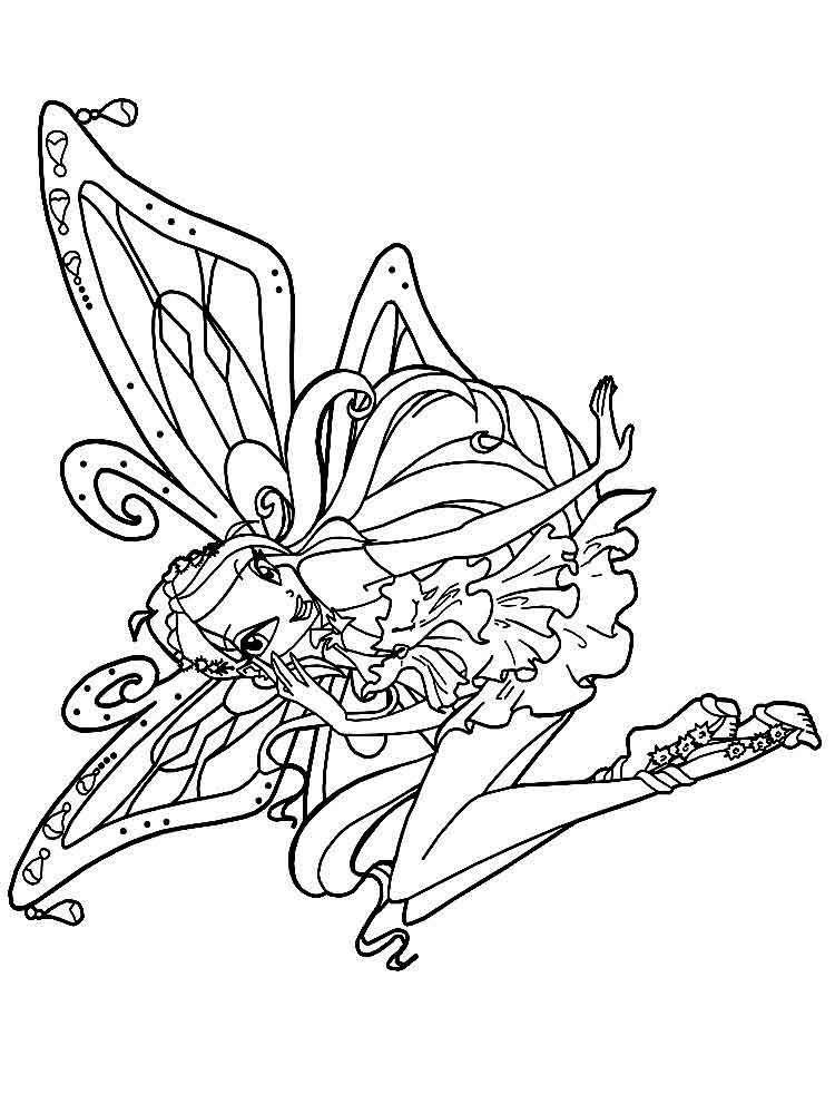 Tranh Tô Màu Công Chúa Phép Thuật Winx - Bloom 44