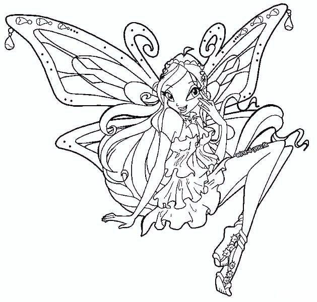 Tranh Tô Màu Công Chúa Phép Thuật Winx - Bloom 45