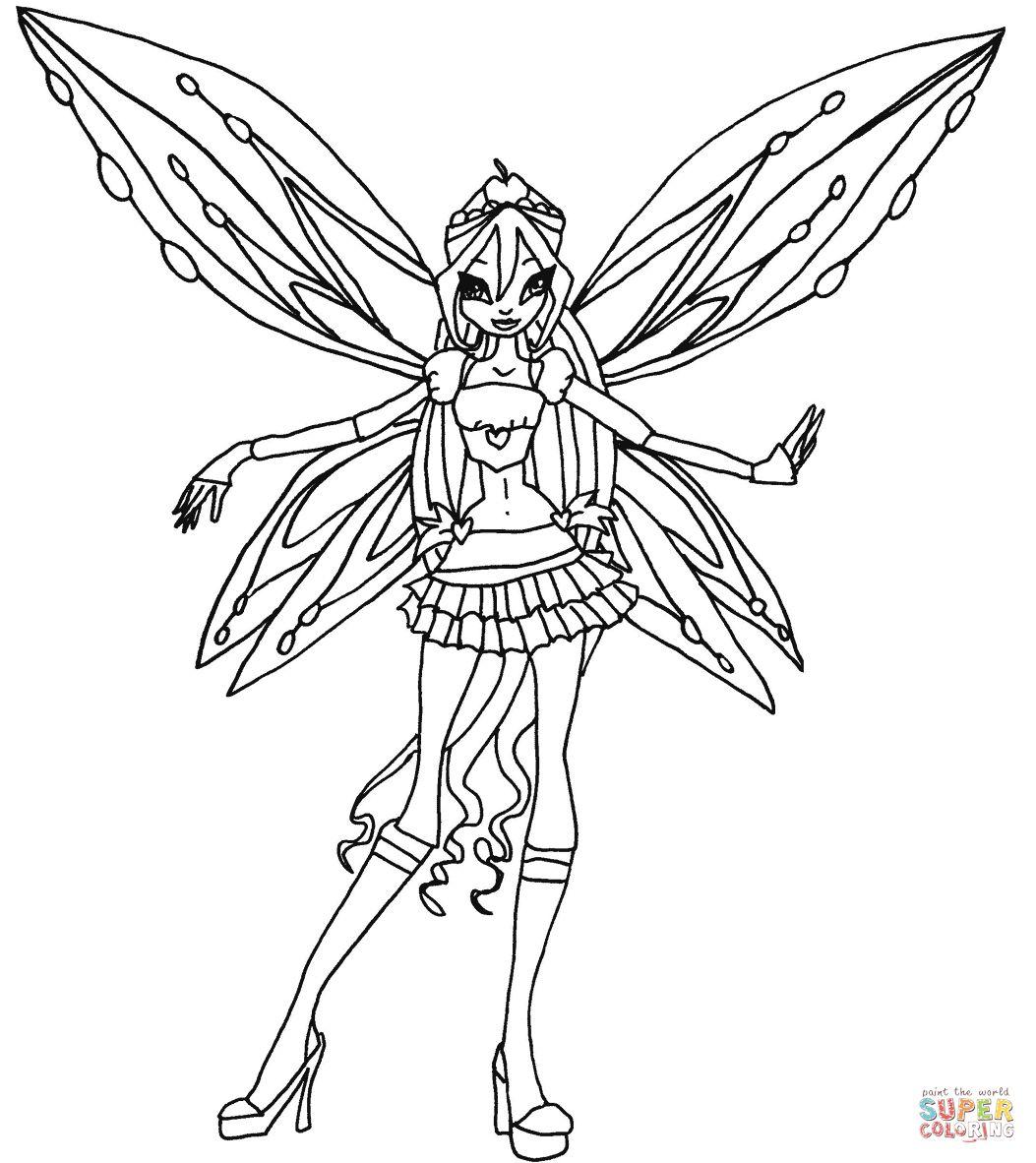 Tranh Tô Màu Công Chúa Phép Thuật Winx - Bloom 58