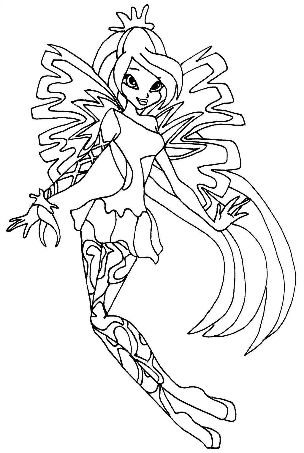 Tranh Tô Màu Công Chúa Phép Thuật Winx - Bloom 61
