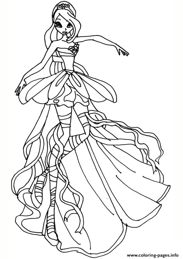 Tranh Tô Màu Công Chúa Phép Thuật Winx - Bloom 62