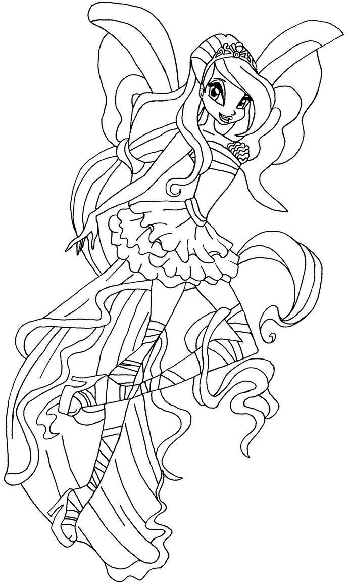 Tranh Tô Màu Công Chúa Phép Thuật Winx - Bloom 64