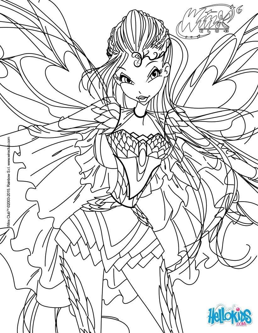 Tranh Tô Màu Công Chúa Phép Thuật Winx - Bloom 8