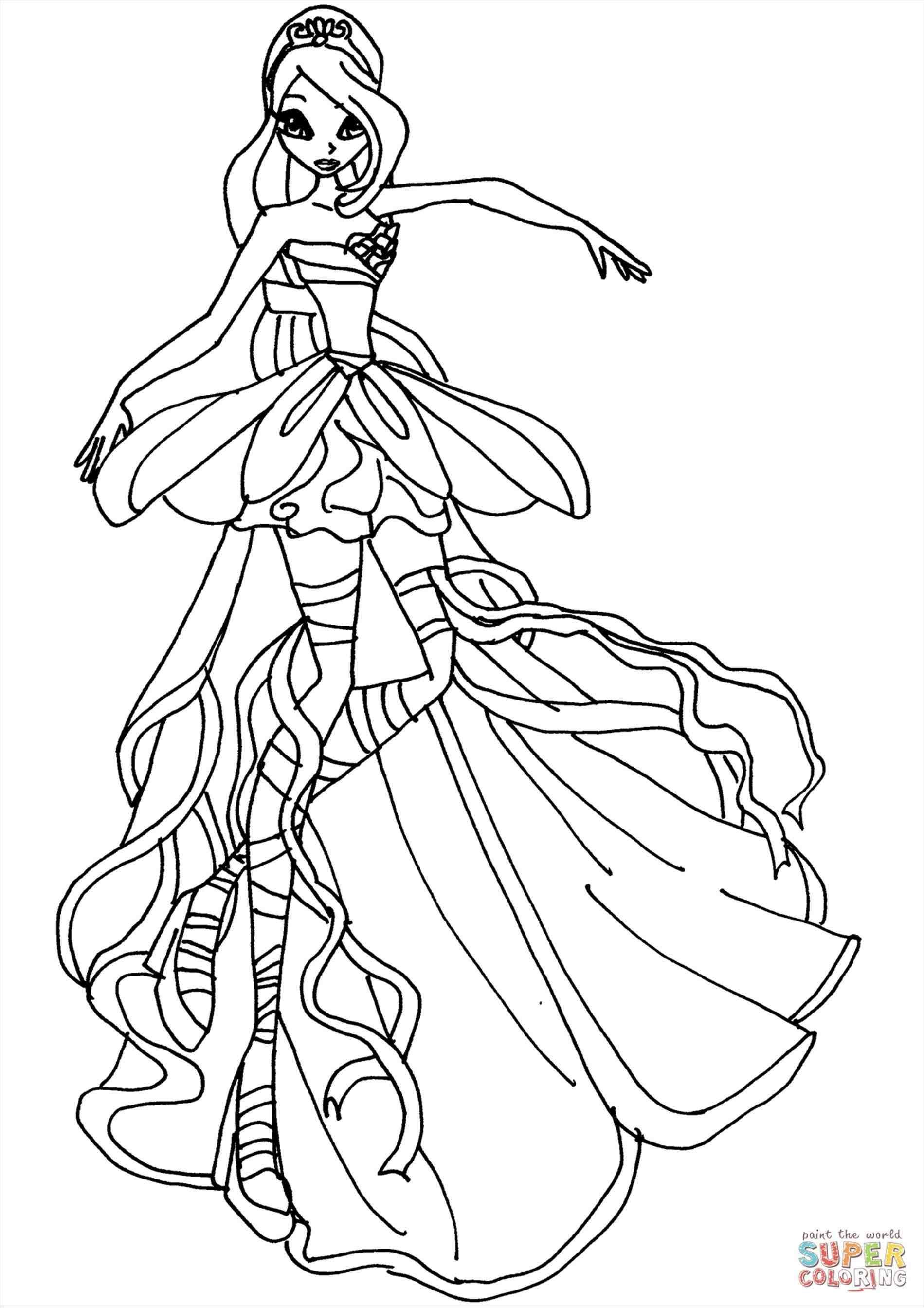 Tranh Tô Màu Công Chúa Phép Thuật Winx - Musa 9