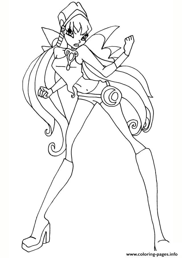 Tranh Tô Màu Công Chúa Phép Thuật Winx - Stella 12