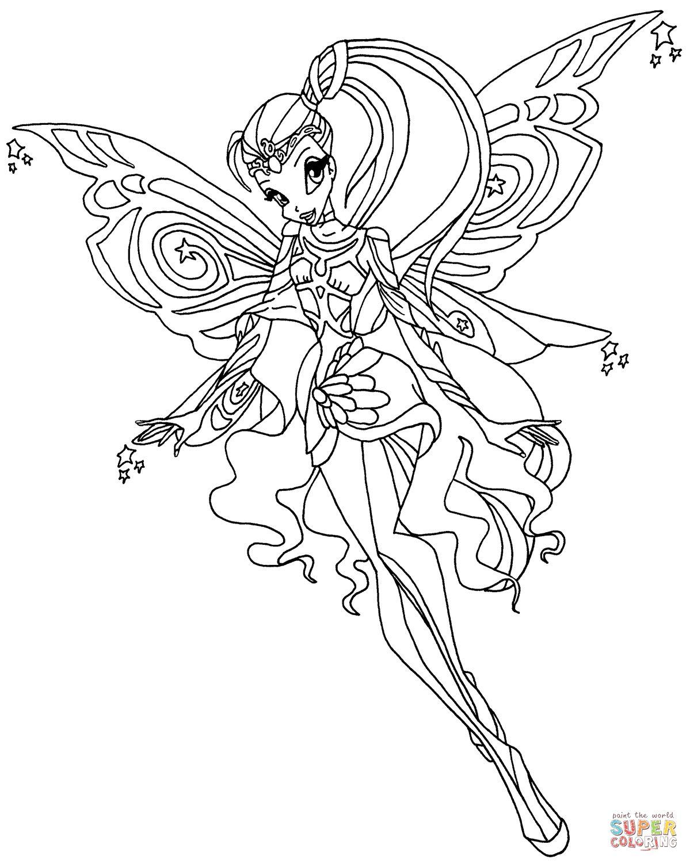Tranh Tô Màu Công Chúa Phép Thuật Winx - Stella 15