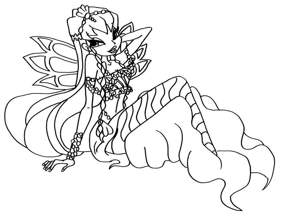 Tranh Tô Màu Công Chúa Phép Thuật Winx - Stella 16