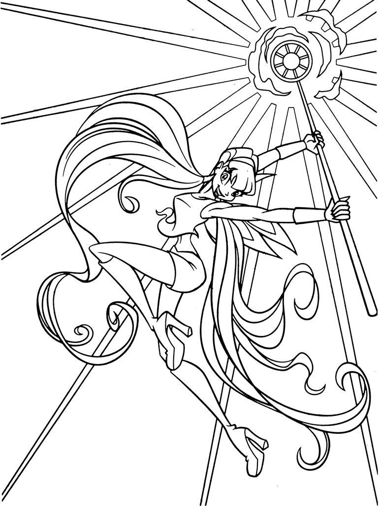 Tranh Tô Màu Công Chúa Phép Thuật Winx - Stella 18