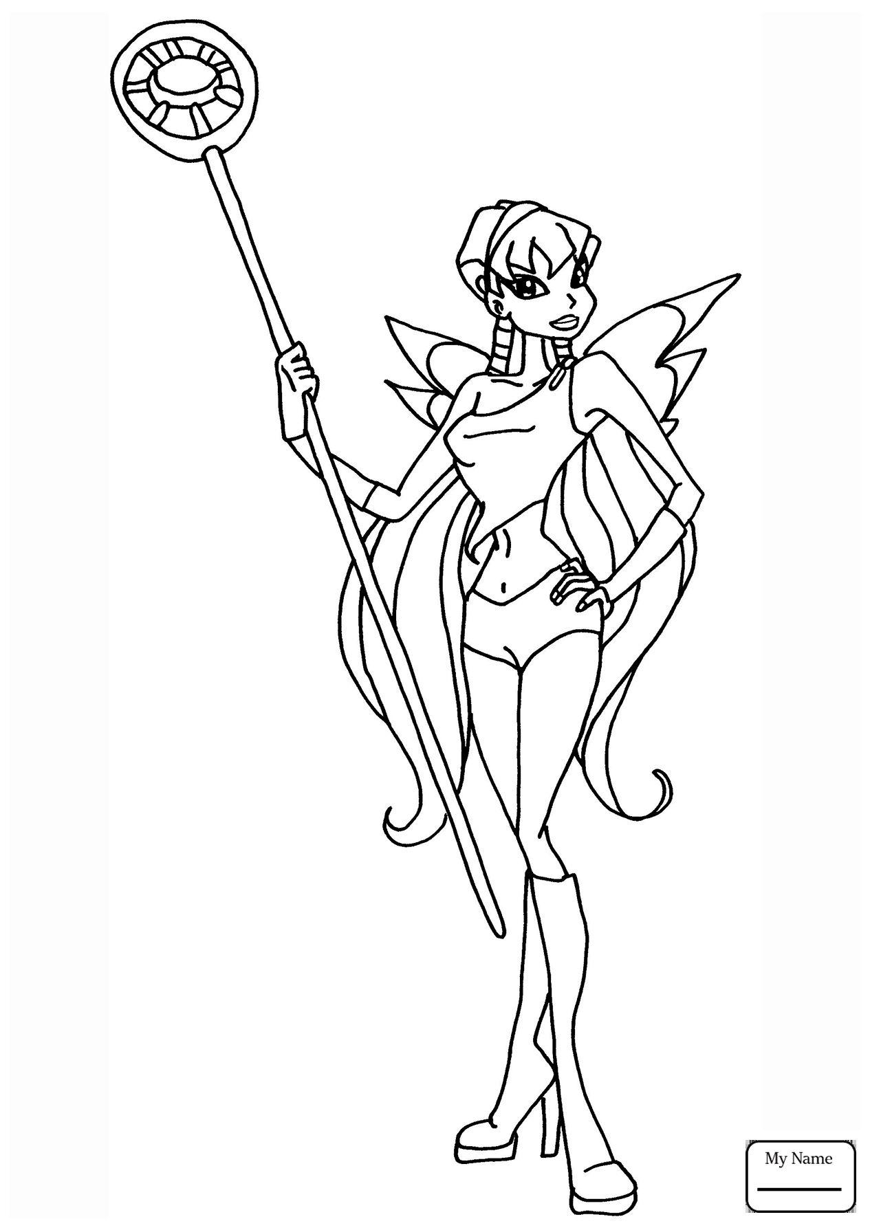 Tranh Tô Màu Công Chúa Phép Thuật Winx - Stella 23