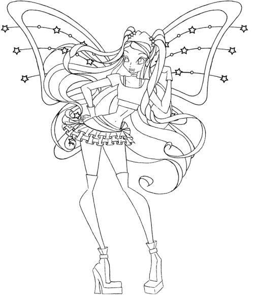 Tranh Tô Màu Công Chúa Phép Thuật Winx - Stella 3