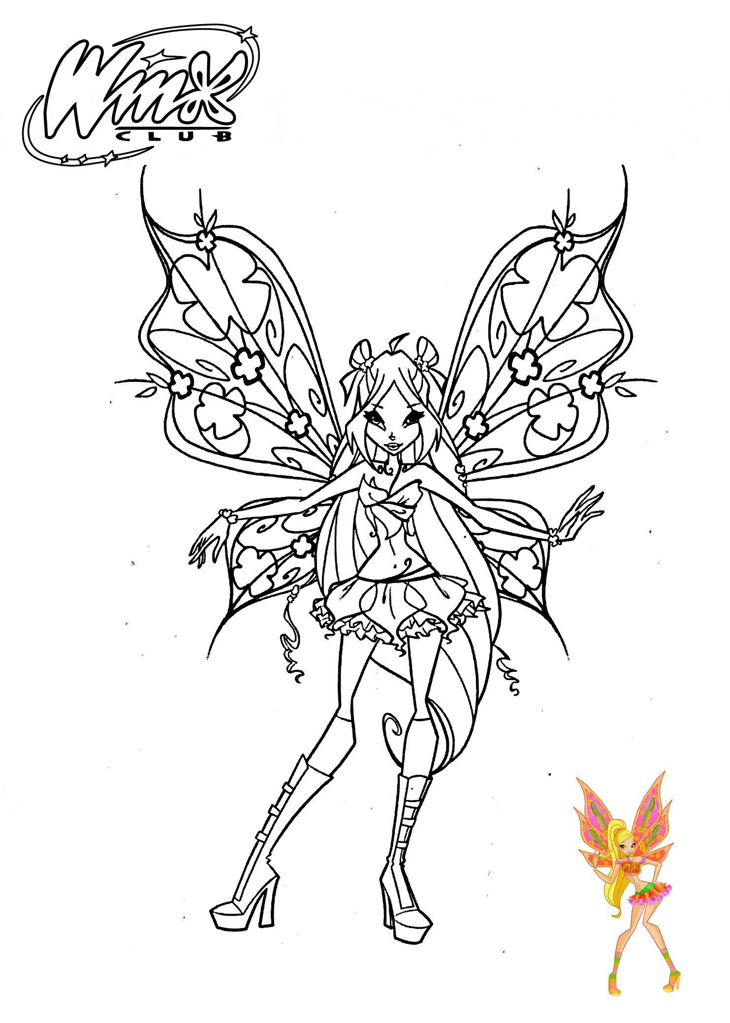 Tranh Tô Màu Công Chúa Phép Thuật Winx - Stella 31