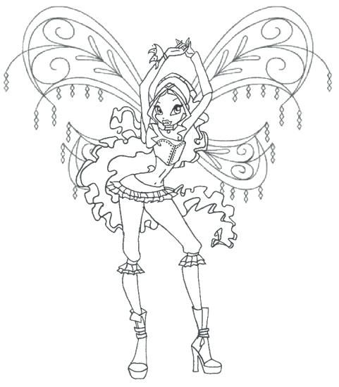 Tranh Tô Màu Công Chúa Phép Thuật Winx - Stella 43