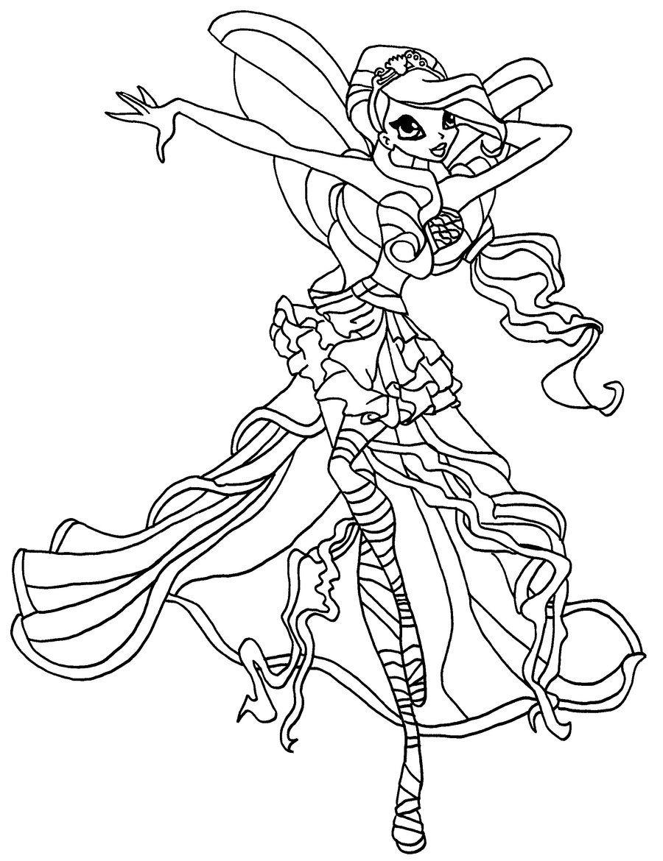 Tranh Tô Màu Công Chúa Phép Thuật Winx - Stella 46