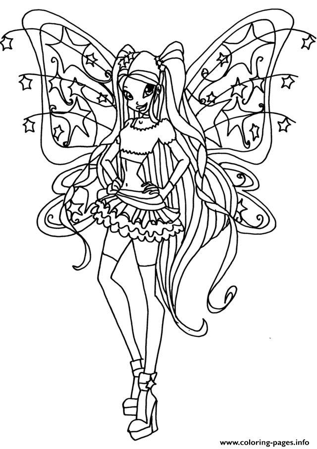 Tranh Tô Màu Công Chúa Phép Thuật Winx - Stella 9