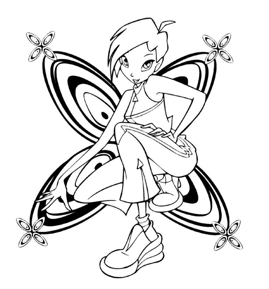Tranh Tô Màu Công Chúa Phép Thuật Winx - Tecna 13