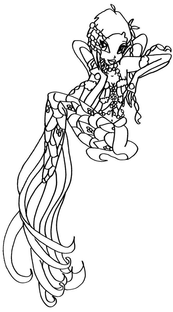 Tranh Tô Màu Công Chúa Phép Thuật Winx - Tecna 18