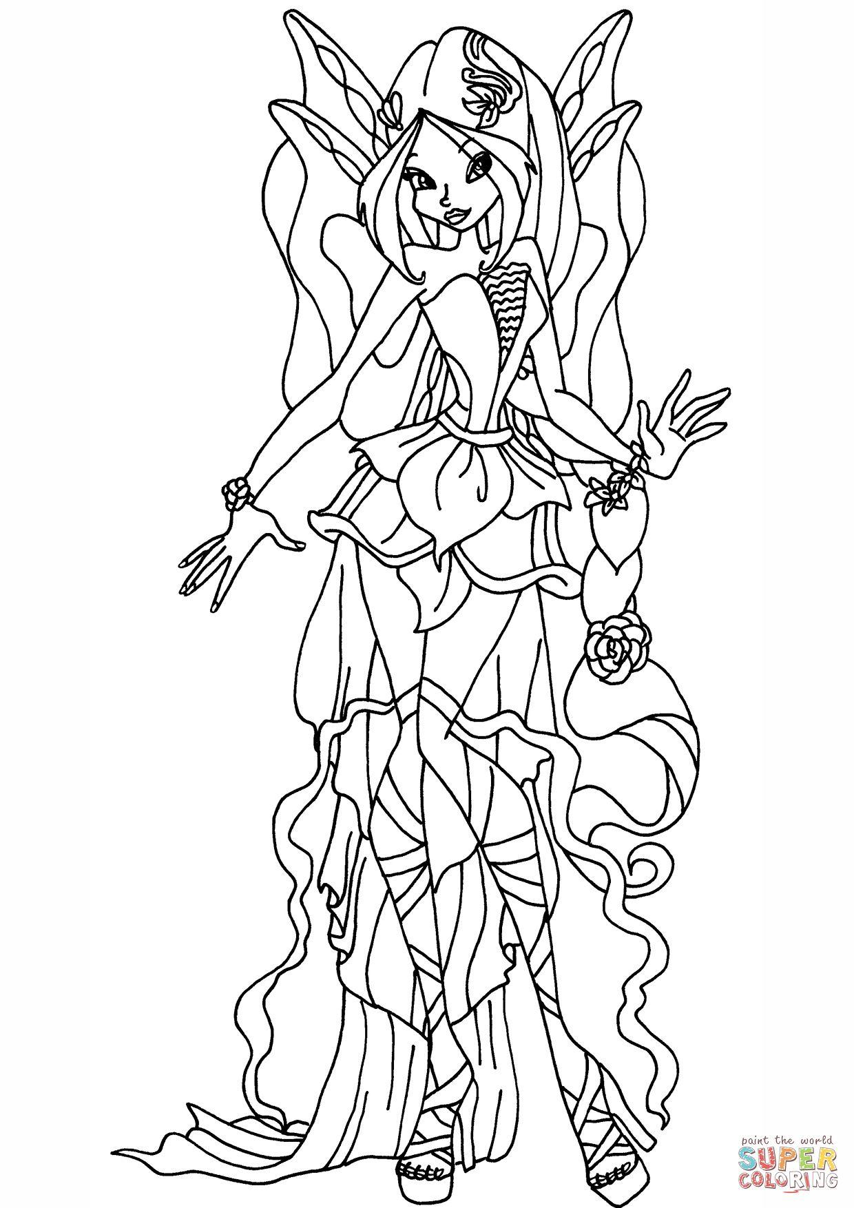 Tranh Tô Màu Công Chúa Phép Thuật Winx - Tecna 25