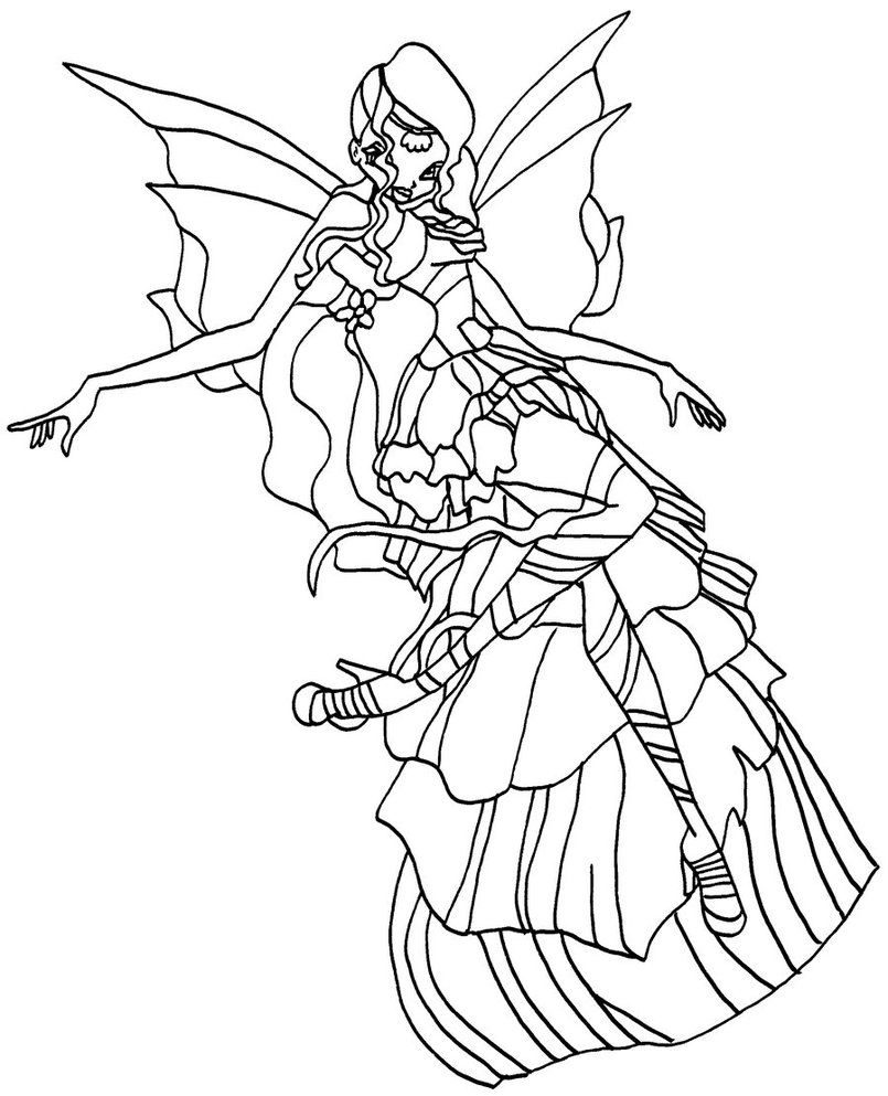 Tranh Tô Màu Công Chúa Winx Layla 10