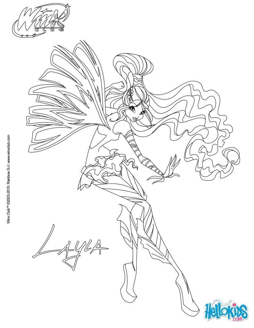 Tranh Tô Màu Công Chúa Winx Layla 17
