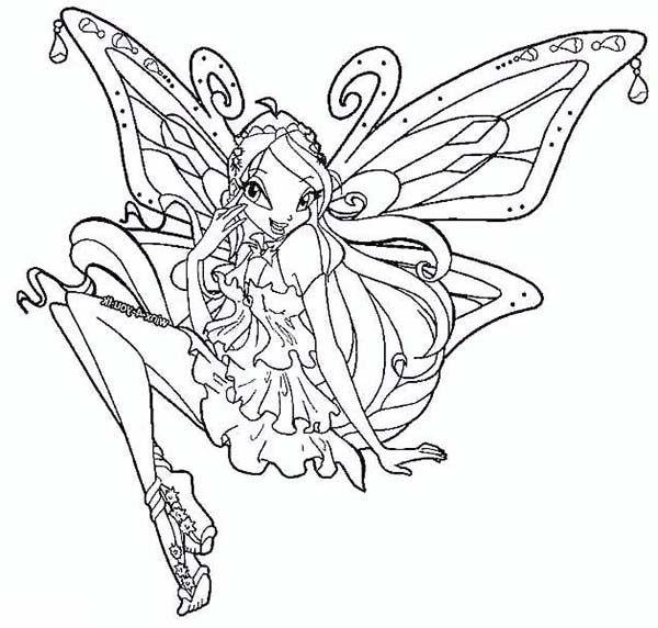 Tranh Tô Màu Công Chúa Winx Layla 18