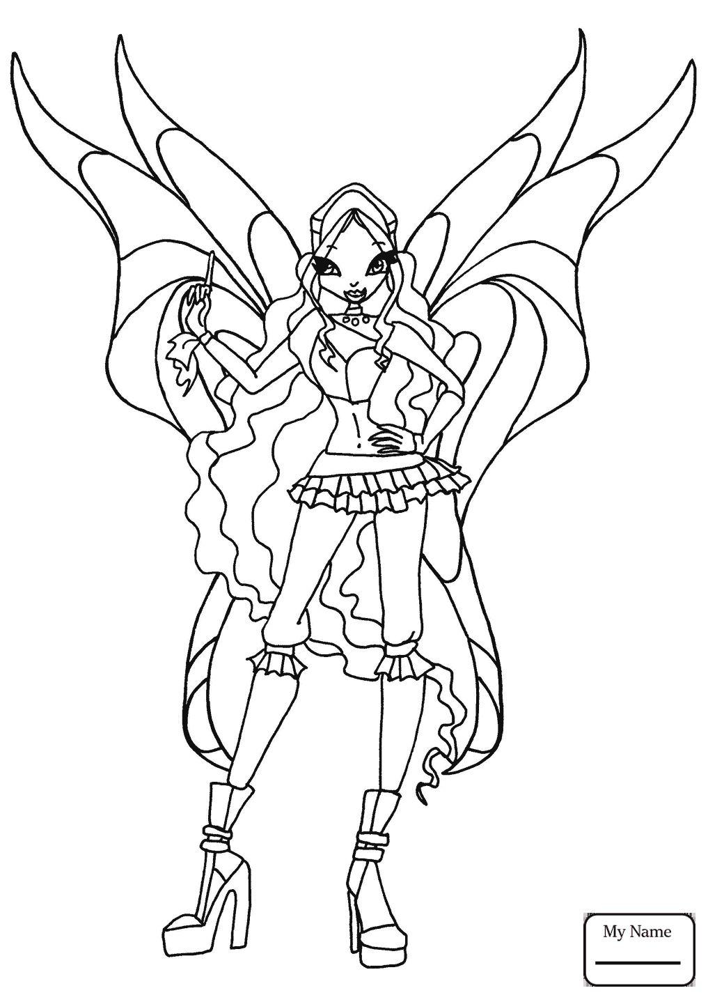 Tranh Tô Màu Công Chúa Winx Layla 2
