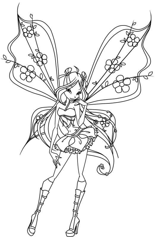 Tranh Tô Màu Công Chúa Winx Layla 20