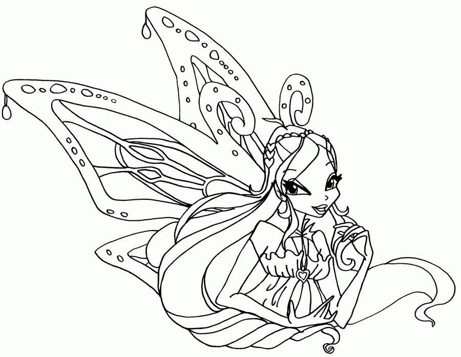 Tranh Tô Màu Công Chúa Winx Layla 23