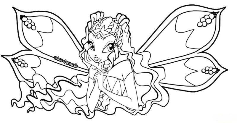 Tranh Tô Màu Công Chúa Winx Layla 30