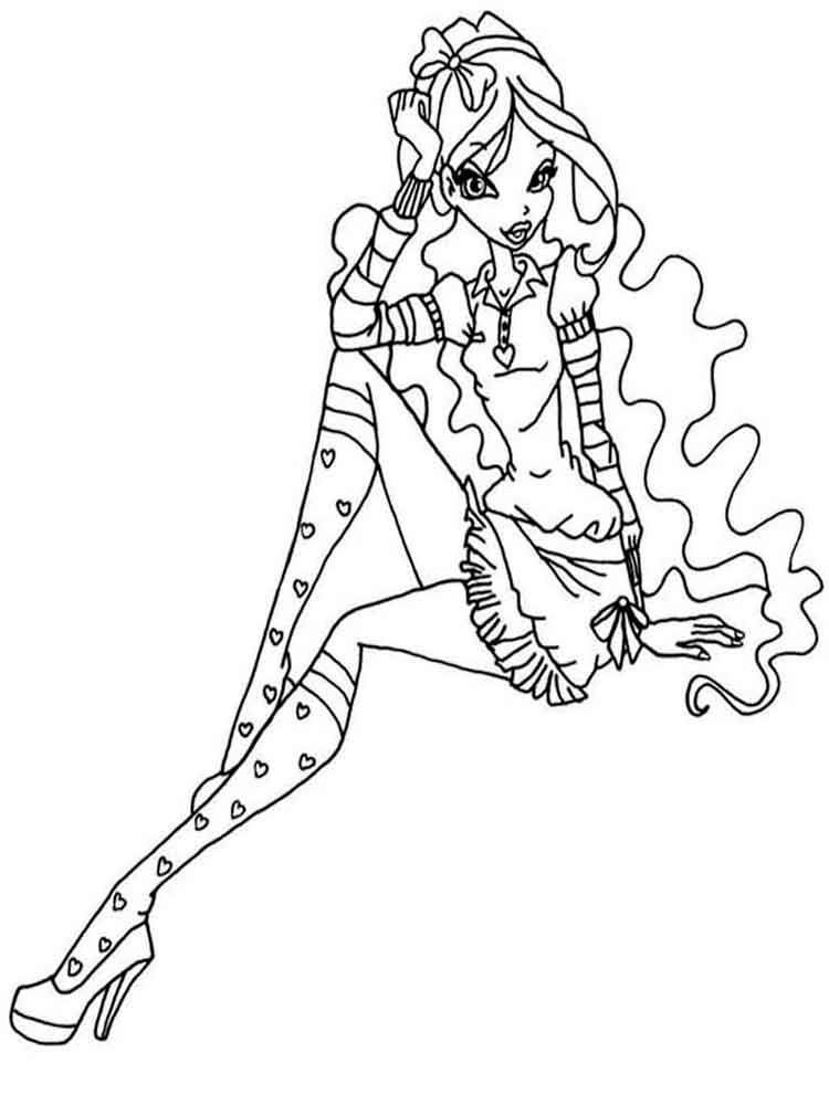 Tranh Tô Màu Công Chúa Winx Layla 35