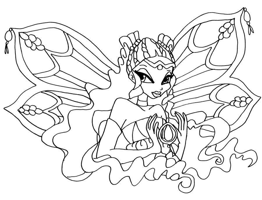 Tranh Tô Màu Công Chúa Winx Layla 36