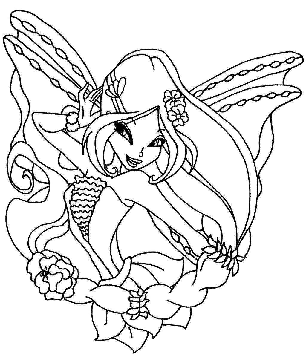 Tranh Tô Màu Công Chúa Winx Layla 43