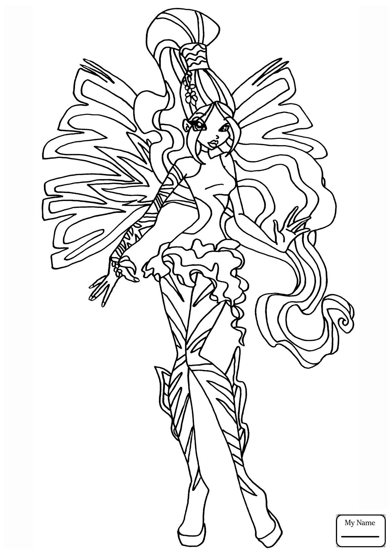 Tranh Tô Màu Công Chúa Winx Layla 45