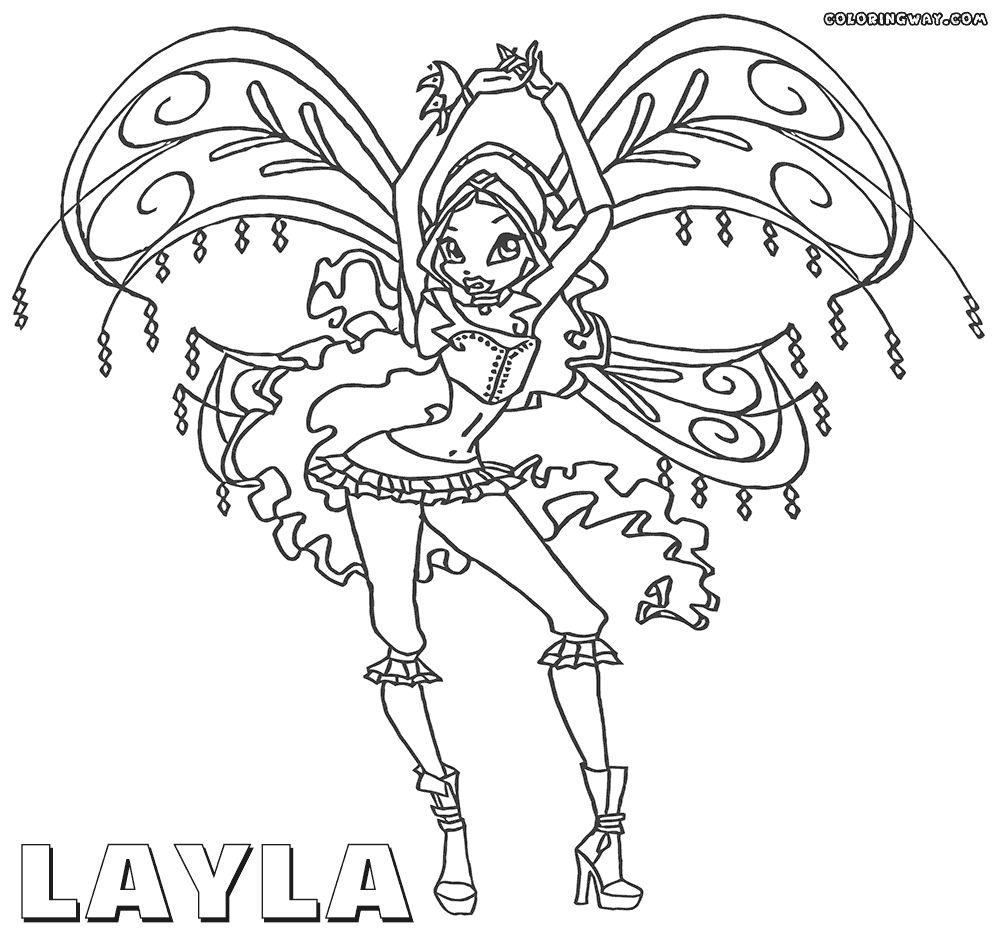 Tranh Tô Màu Công Chúa Winx Layla 52