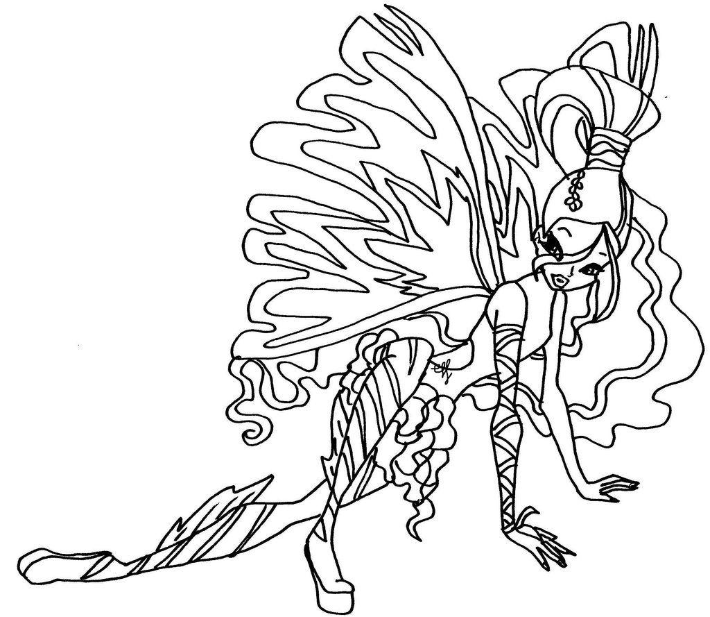 Tranh Tô Màu Công Chúa Winx Layla 58