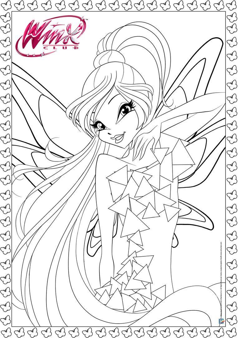 Tranh Tô Màu Công Chúa Winx Layla 59