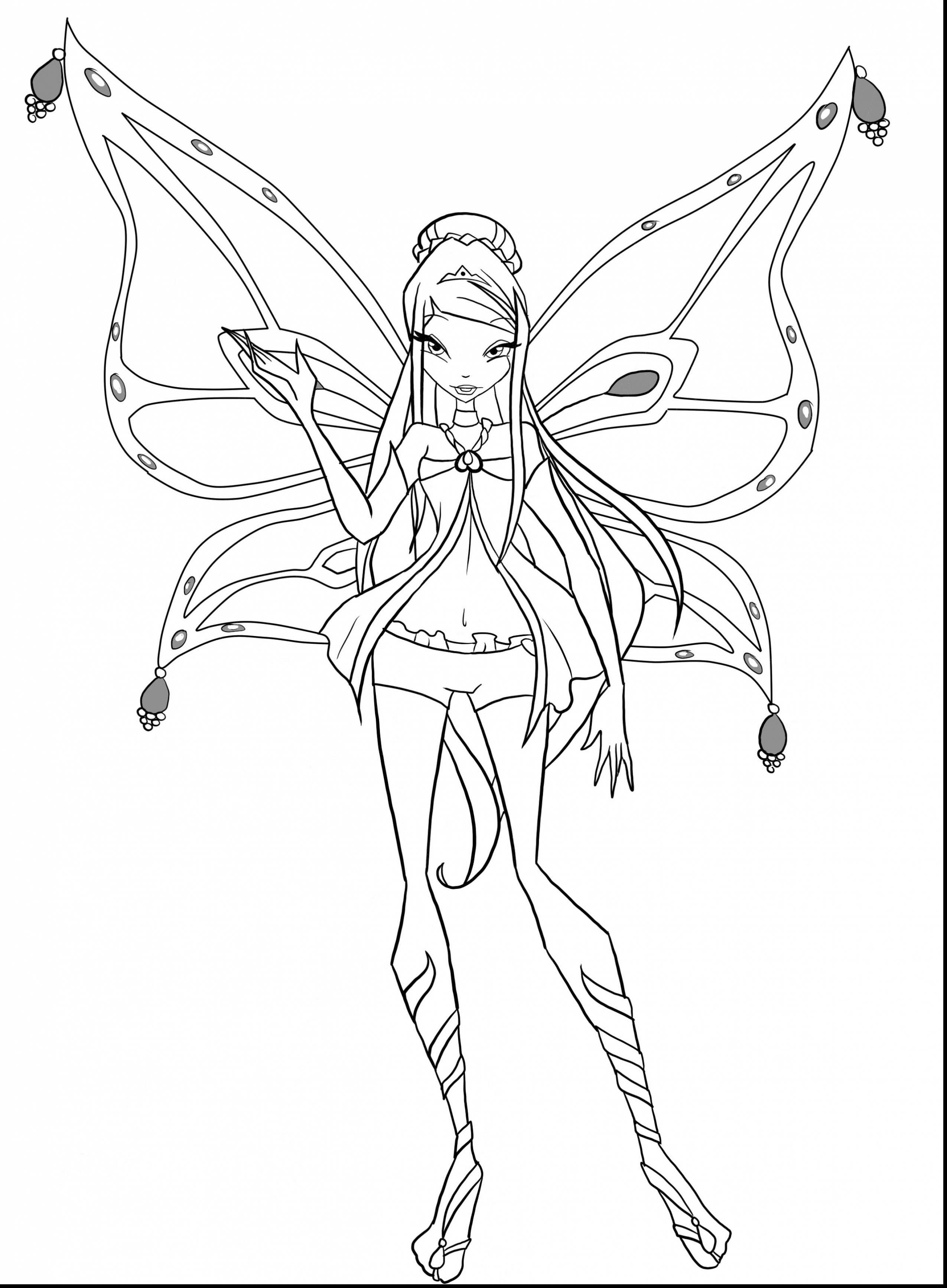Tranh Tô Màu Công Chúa Winx Layla 6