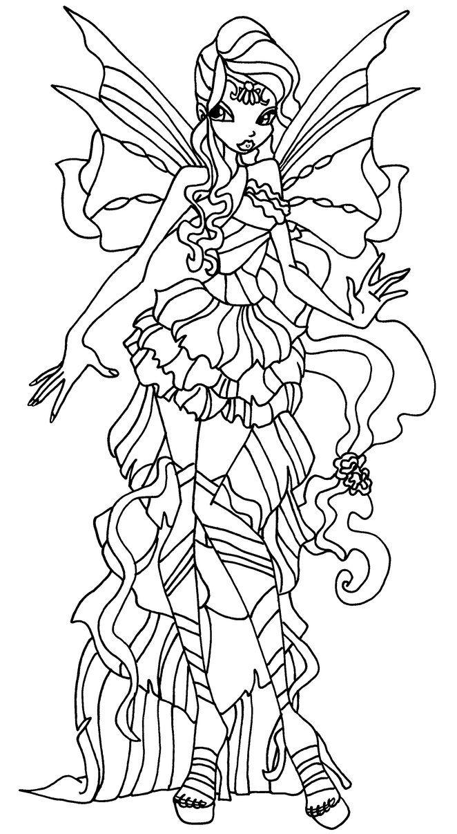 Tranh Tô Màu Công Chúa Winx Layla 9