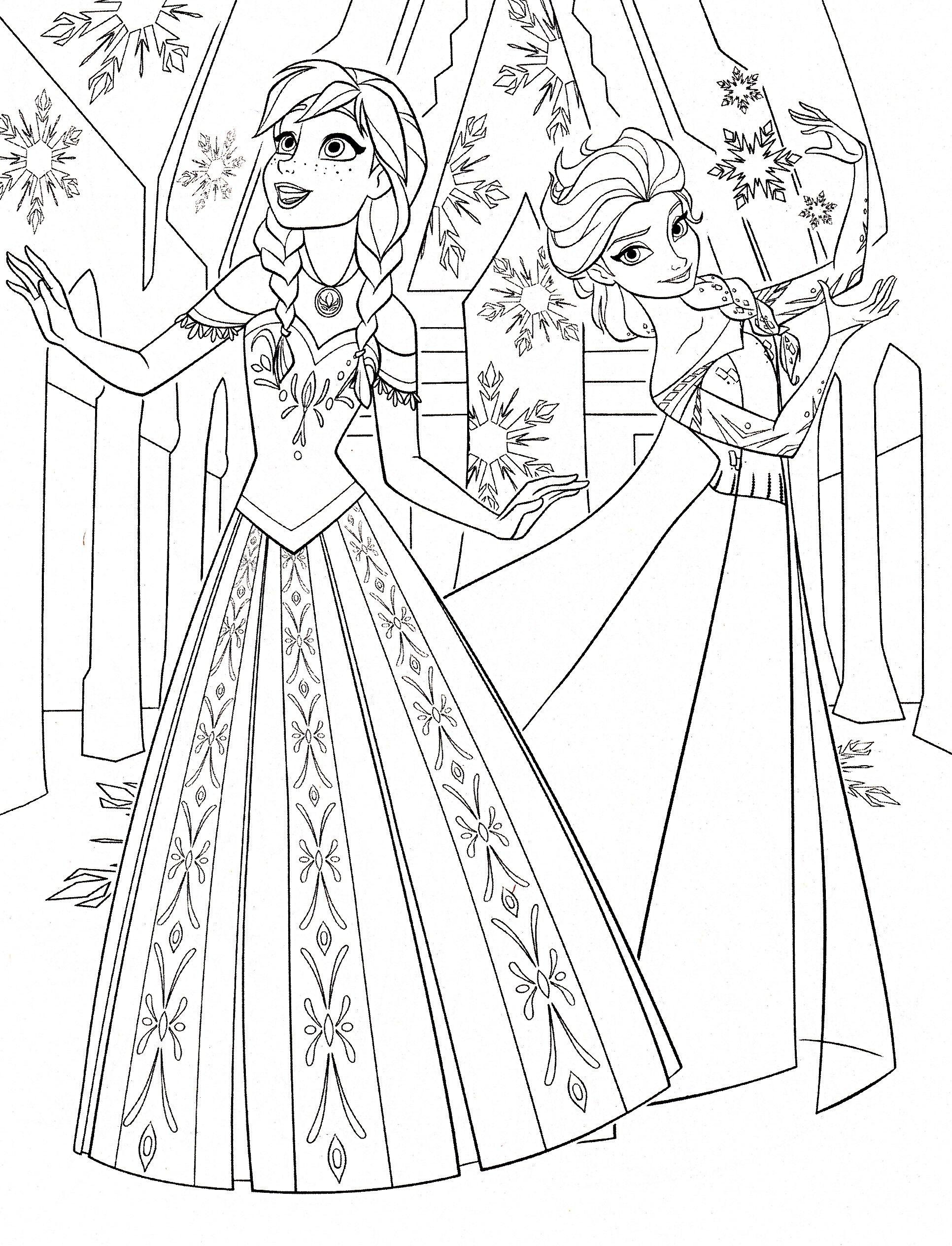 Tranh Tô Màu Elsa Và Anna 18