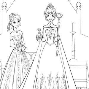 Tranh Tô Màu Elsa Và Anna 2