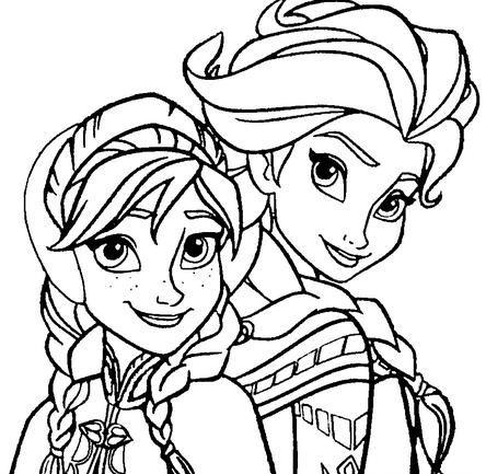 Tranh Tô Màu Elsa Và Anna 20