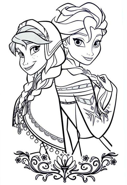Tranh Tô Màu Elsa Và Anna 21