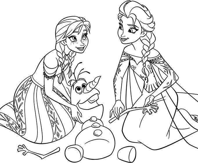 Tranh Tô Màu Elsa Và Anna 22